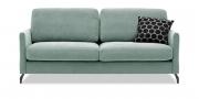 MILO - 2,5 Platz Sofa in Stoff mint mit Dekokissen