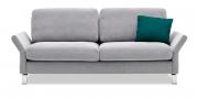 MILO - 2,5 Platz Sofa in hellgrauen Stoff mit Zirkissen