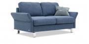 MILO - 2 Platz Sofa in Stoff Prima blau