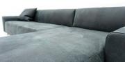 MIRO - Detailbild vom Sofa in Leder Pamplona smoke