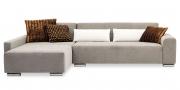 MIRO - 2 Platz Sofa mit Longchair in grauem Stoff von Zimmer und Rode