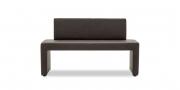 MODUS Sitzsystem - Polsterbank 60 mit Rücken in braunem Kunstleder von English Dekor