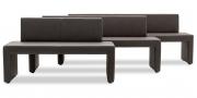 MODUS Sitzsystem - Polsterbänke 60 in verschiedenen Breiten in braunem Kunstleder