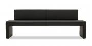 MODUS Sitzsystem - Sitzbank 60 mit Rücken in schwarzem Kunstleder