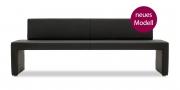 MODUS Sitzsystem - Polsterbank Modus 60 mit Rücken in schwarzem Kunstleder