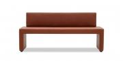 MODUS Sitzsystem - Sitzbank mit Rücken in Kunstleder marone braun