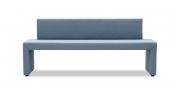 MODUS Sitzsystem - Sitzbank mit Rücken in Mikrofaserstoff Like Suede blaugrau