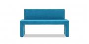 MODUS Sitzsystem - Sitzbank mit Rückenlehne in Stoff GEOS Exclusiv blau