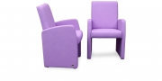 MONO - Sessel in lilafarbenem Leder