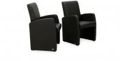 MONO - Sessel in schwarzem Leder