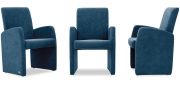 MONO - Sessel im Stoff Alcantara blau