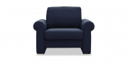 ORA - Sessel in dunkelblau meliertem Stoff