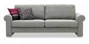 ORA - 2,5 Platz Sofa in grau meliertem Stoff
