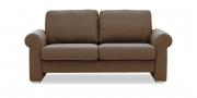 ORA - 2 Platz Sofa in braun meliertem Stoff