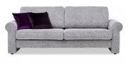 ORA - 2,5 Platz Sofa in Stoff Clarke & Clarke mit Kissen