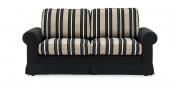 ORA - 2 Platz Sofa in einer Stoffkombination von S & V Country chic und schwarzem Stoff