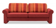ORA - 2,5 Platz Sofa in einer Stoffkombination von S & V Essentials und roter Mikrofaser