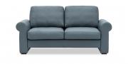 ORA - 2 Platz Sofa in blau-grauen Leder Rustik Jeans