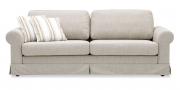ORA - 2,5 Platz Sofa mit Schabracke in Stoff S & V Magic Style beige