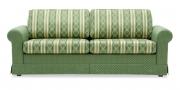 ORA - 2,5 Platz Sofa mit Schabracke in Stoff S & V Belvedere Classic grün Streifen