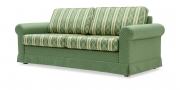 ORA - 2,5 Platz Sofa mit Schabracke in Stoff S & V Belvedere Classic grün geometrisch