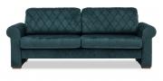 ORA - 2,5 Platz Sofa im Stoff Velours flaschengrün