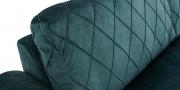ORA - Detailbild Rückenkissen Veloursstoff flaschengrün