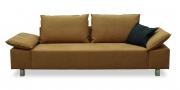 PABLO - 2,5 Platz Sofa in hellbraunem Alcantara