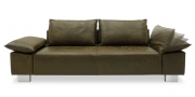 PABLO - 2,5 Platz Sofa in dunkelbraunem Saddle Leder in Vintageoptik
