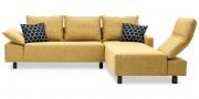 PABLO mit Armlehne FUGO - 2 Platz Korpus mit Longchair in gelben Stoff