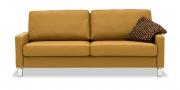 SALMA - 2,5 Platz Sofa in Leder Napoli senfgelb