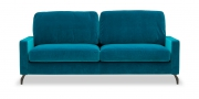 SALMA - 2,5 Platz Sofa in blauem Velours