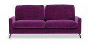 SALMA - 2,5 Platz Sofa im Samtstoff pflaume