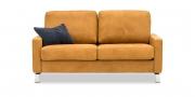SALMA - 2 Platz Sofa in Leder Vintage Epic mit Dekokissen