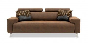 SIGNUM - 2,5 Platz Sofa im Stoff Sonnhaus Dallas mocca - Vintage Style