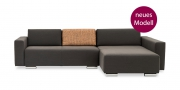 SIRIUS - Neues Modell 2,5 Platz Sofa mir Longchair in braunem Stoff