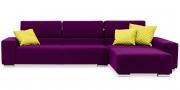 SIRIUS - 2,5 Platz Sofa mit Longchair in Sonderlänge im Stoff pink
