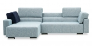 SIRIUS - 2 Platz Sofa mit Longchair im Stoff S+V Magic Relax