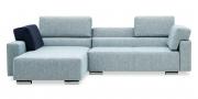 SIRIUS - 2 Platz Sofa mit Longchair im Stoff S+V Magic Relax