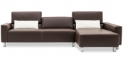 SIRIUS - 2,5 Platz Sofa in Leder Rustik espresso mit Effeknaht