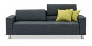 SIRIUS - 2,5 Platz Sofa mit modulare Rückenkissen in Stoff graphit