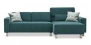 SIRIUS - 2 Platz Sofa mit Longchair in Unistoff Sonnhaus Villena achat dark teal