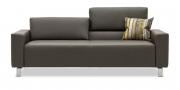 SIRIUS - 2,5 Platz Sofa in Leder Club elefanto dunkelbraun