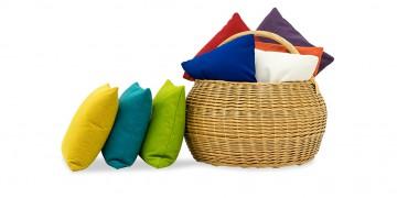 SOFAKISSEN - Uni-Stoffe in verschiedenen Farben
