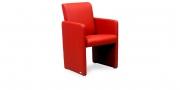 SOLO - Sessel in rotem Leder