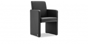 SOLO - Sessel in Leder Classic schwarz