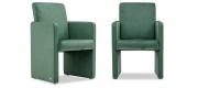 SOLO - Sessel in Samtstoff graugrün