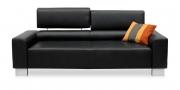 STRATOS - 2,5 Platz Korpus in schwarzem Leder