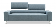 STRATOS - 2,5 Platz Sofa in Alcantara Velvet blue