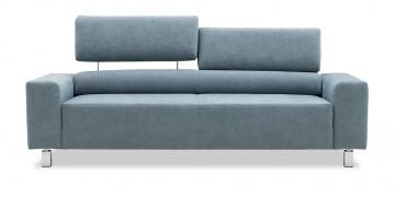STRATOS - 2,5 Platz Sofa in Alcantara Velvet blue